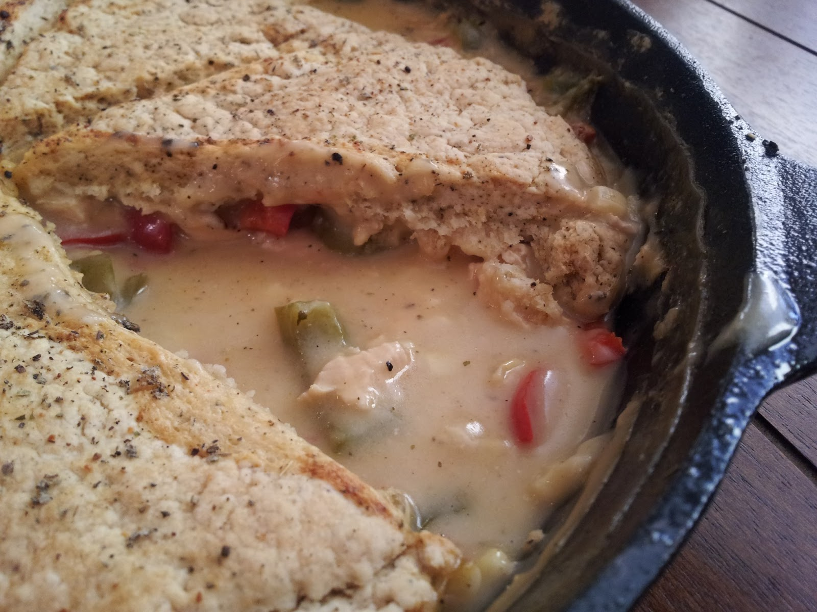 Chicken Pot Pie With A Sage Biscuit Crust
