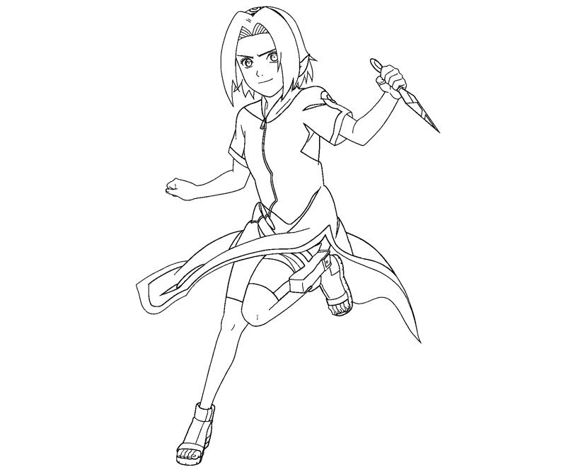 sakura haruno coloring pages - photo#4