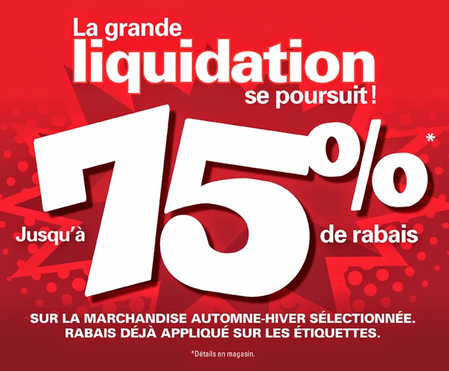Liquidation aubainerie entrepot 75 de rabais for Liquidation entrepot