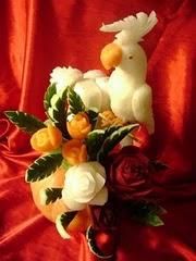 Calopcita de nabo e flores de legumes
