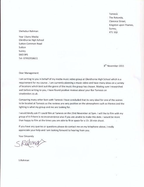 Shehabur Rahman Location Permission Letter