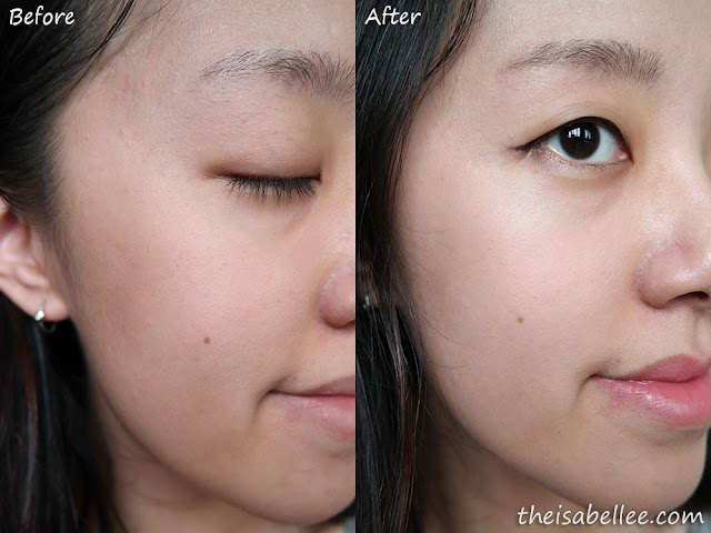 Before and after Klairs Illuminating Supple Blemish Cream