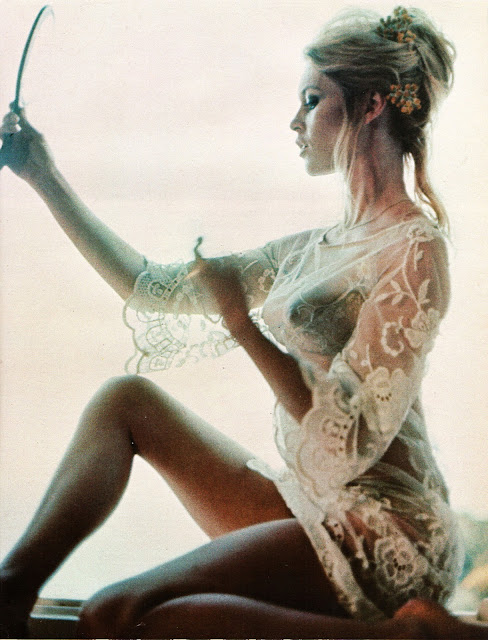 brigitte bardot wearing white lace