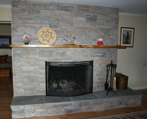 Brick Laminate Picture Fireplace Remodel
