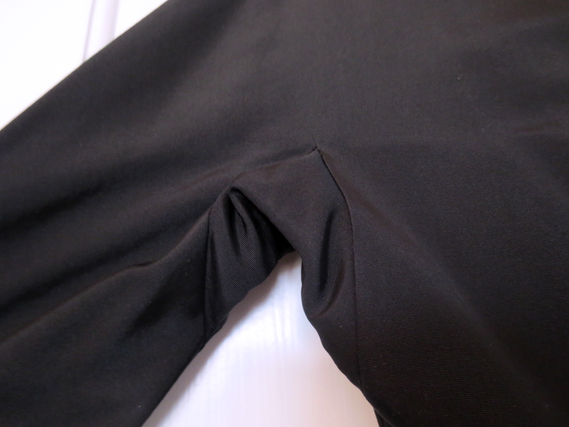 1950's vintage french black silk faille dress kimono sleeve gusset