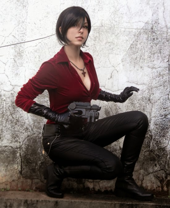Gabriela Almeida Shermie deviantart cosplay beautiful girl games comics sensual Ada Wong from Resident Evil 6