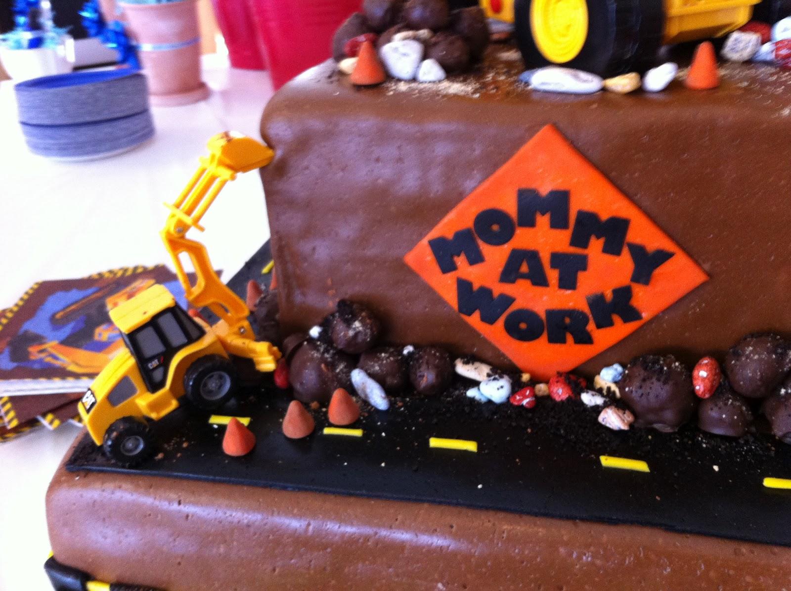 Cakecreated Baby Under Construction Shower Cake
