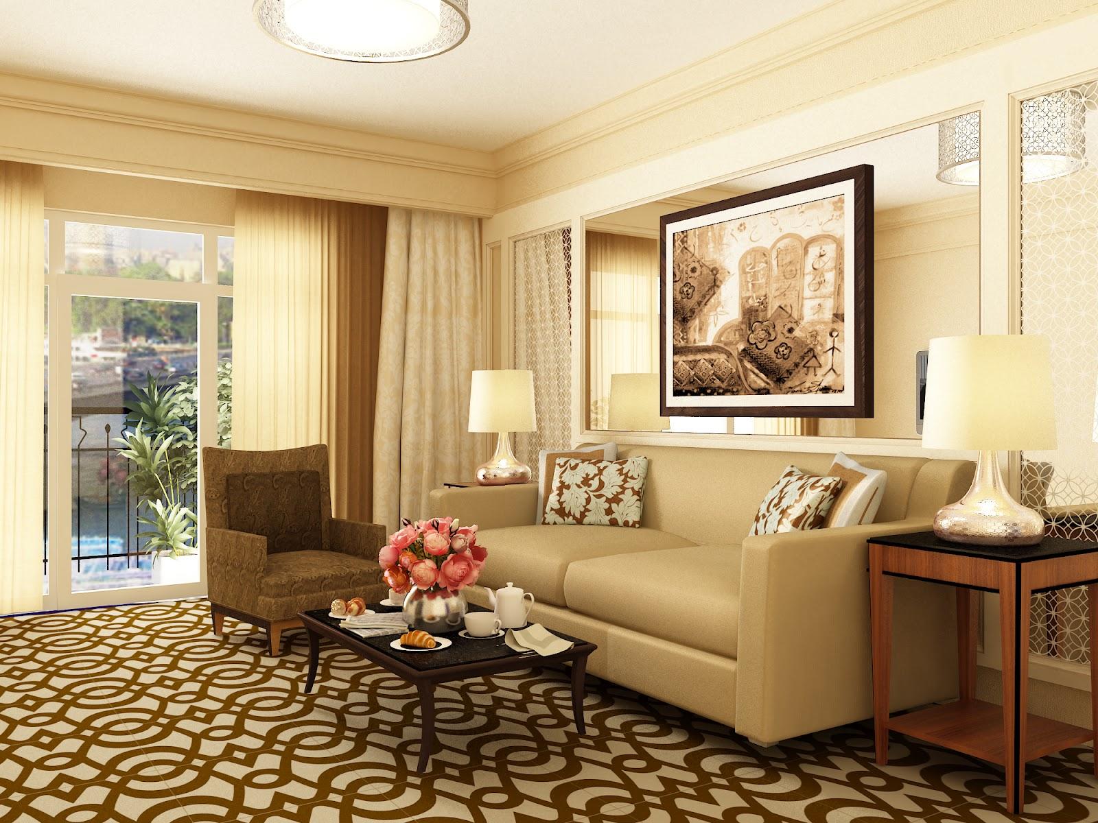 Interior Design & visual Art: Hotel suite room