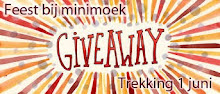 Give away bij Minimoek tot 1 juni a.s.