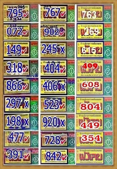 Thai lotto hot magazine cut number 30 12 2014 thai lottery 007