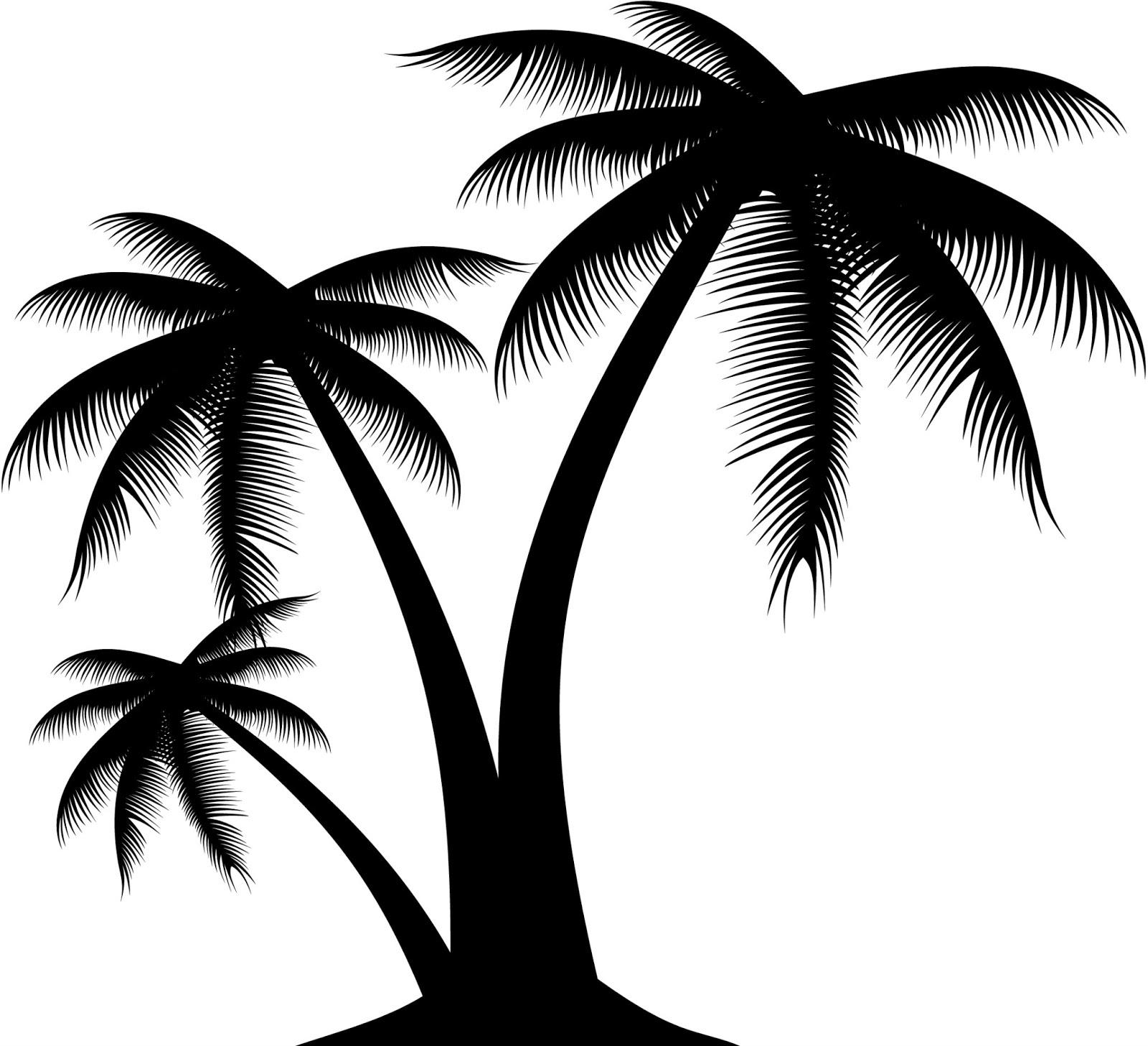 Editor audiovisuals el templat: Siluetas de palmeras exoticas