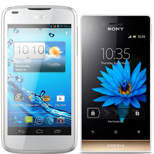 Sony Xperia Miro vs Acer Liquid Gallant E350