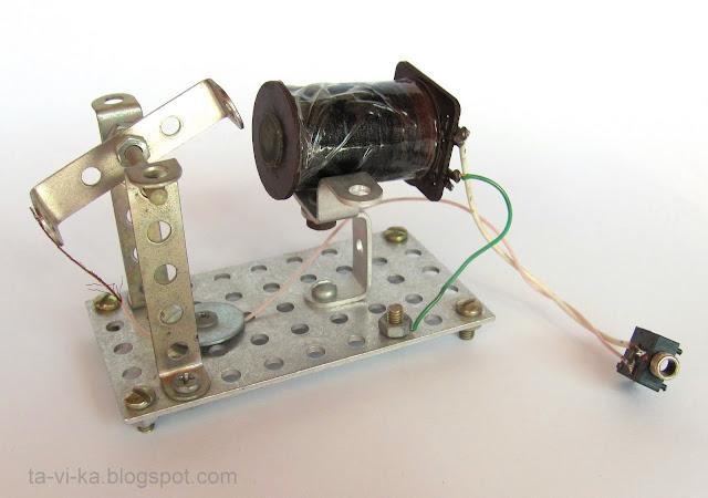 поделка модель электромотора