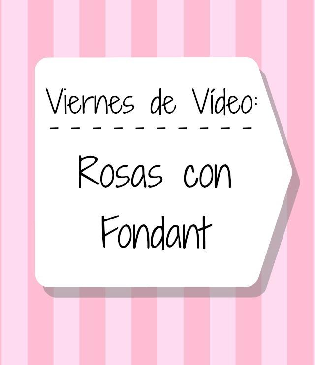 Cómo hacer rosas con fondant video tutorial