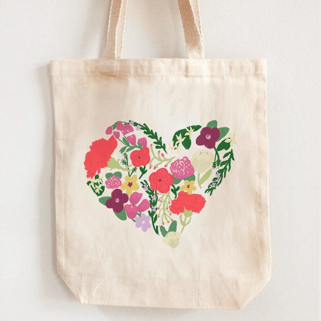 Bolsa de tela de flores
