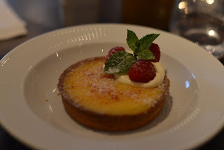 Tarte au Citron with Raspberries