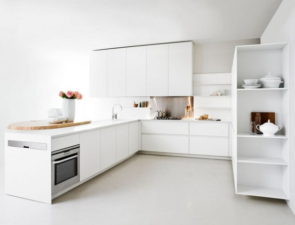 Kitchen Design For Small Spaces Classy With White Modern Small Kitchen Design Picture