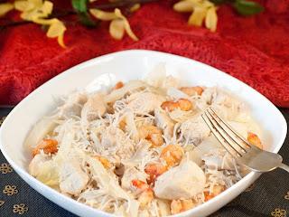 bami maison, recette bami, recette chinoise, que faire avec du vermicelle, que faire avec des crevettes, que faire avec du poulet, recette nouvelle calédonie