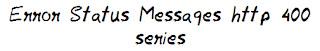 Error Status Messages http 400 series MohitChar