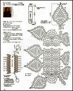 Шарф галстук спицами схемы