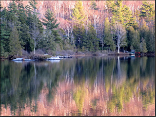 Colours reflected on Sugarloaf Pond