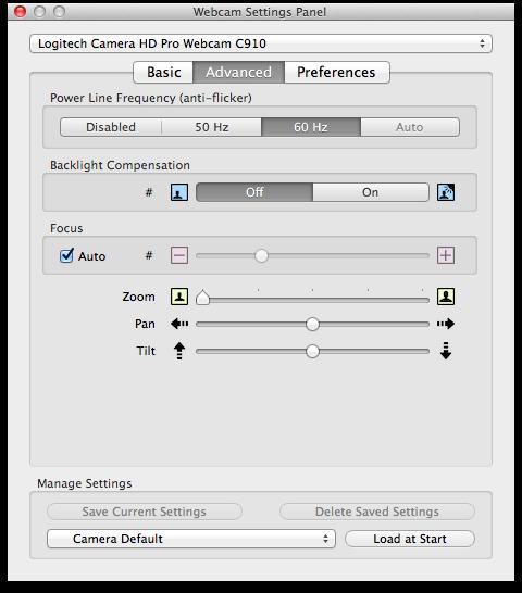 logitech hd pro webcam c910 manual