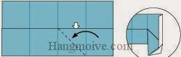 Bước 5: Mở lớp giấy trên cùng ra, kéo và gấp sang trái.