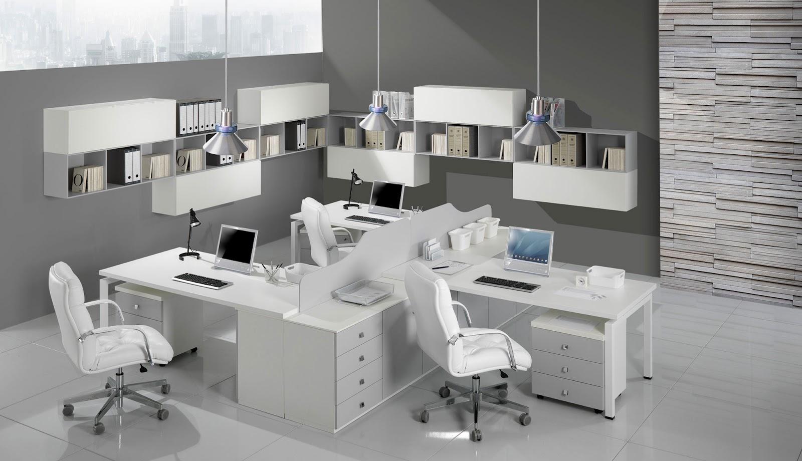 Office decor for Arredo ufficio bianco