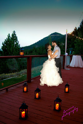 mountain candlelit wedding