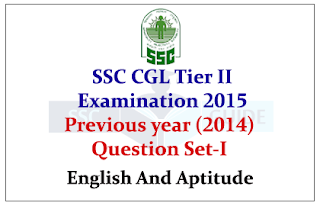 SSC CGL Tier II Previous year 2014 Questions Paper