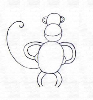 Mudah menggambar monyet menggambar asik - Singe a dessiner ...