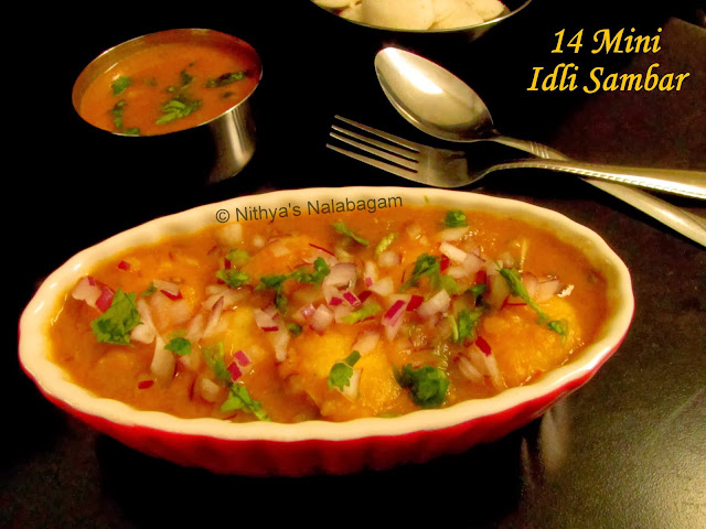 14 Mini Idli Sambar