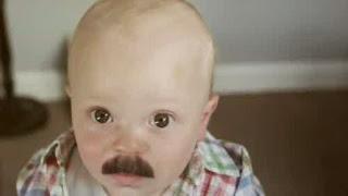 Gambar bayi lucu pakai kumis 10