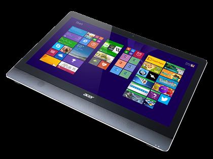 Acer Aspire U5-620 на столе в виде планшета