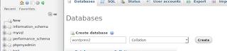 proses pembuatan database baru