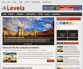 Levels is Easy to Use, SEO Friendly, Responsive, 2 Columns Blogger Template with 3 Columns Footer Widgets Area. Levels Blogger Template has a jQuery Featured Slider,