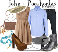 John and Pocahontas Character Inspired Outfit by Disneybound