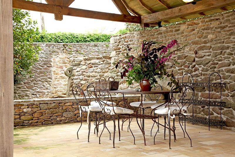 estilo rustico creando patios rusticos
