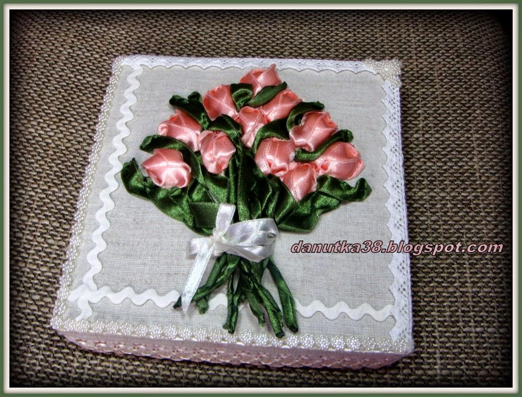 pudełko,tulipany