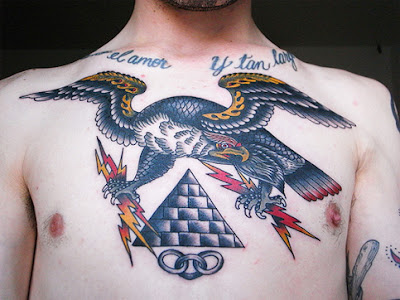 chest tattoos for men words