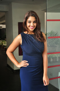 Actress Richa Gangopadhyay  Pictures in Short Dress at Bhai Telugu Movie Audio Launch 0028.JPG