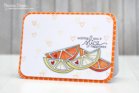 Fruit card by Christine Drogt | Sweet Summer Stamp Set | Newton's Nook Designs