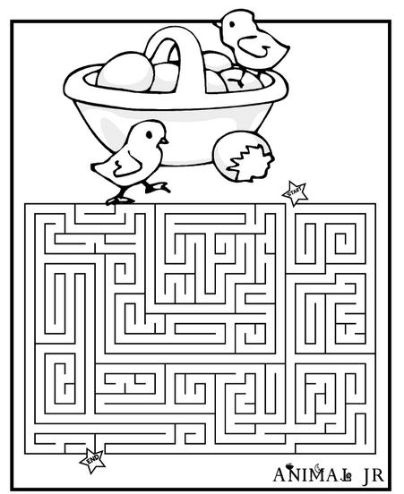 Easter Mazes - The Activities For Preschoolers