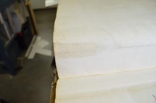 Een eerder aangebrachte papierreparatie