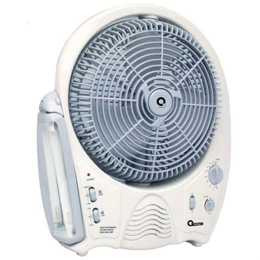 OX 805 Rechargeable Fan W Emergency Lamp