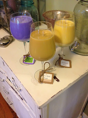 Wine Glass Soy Candles