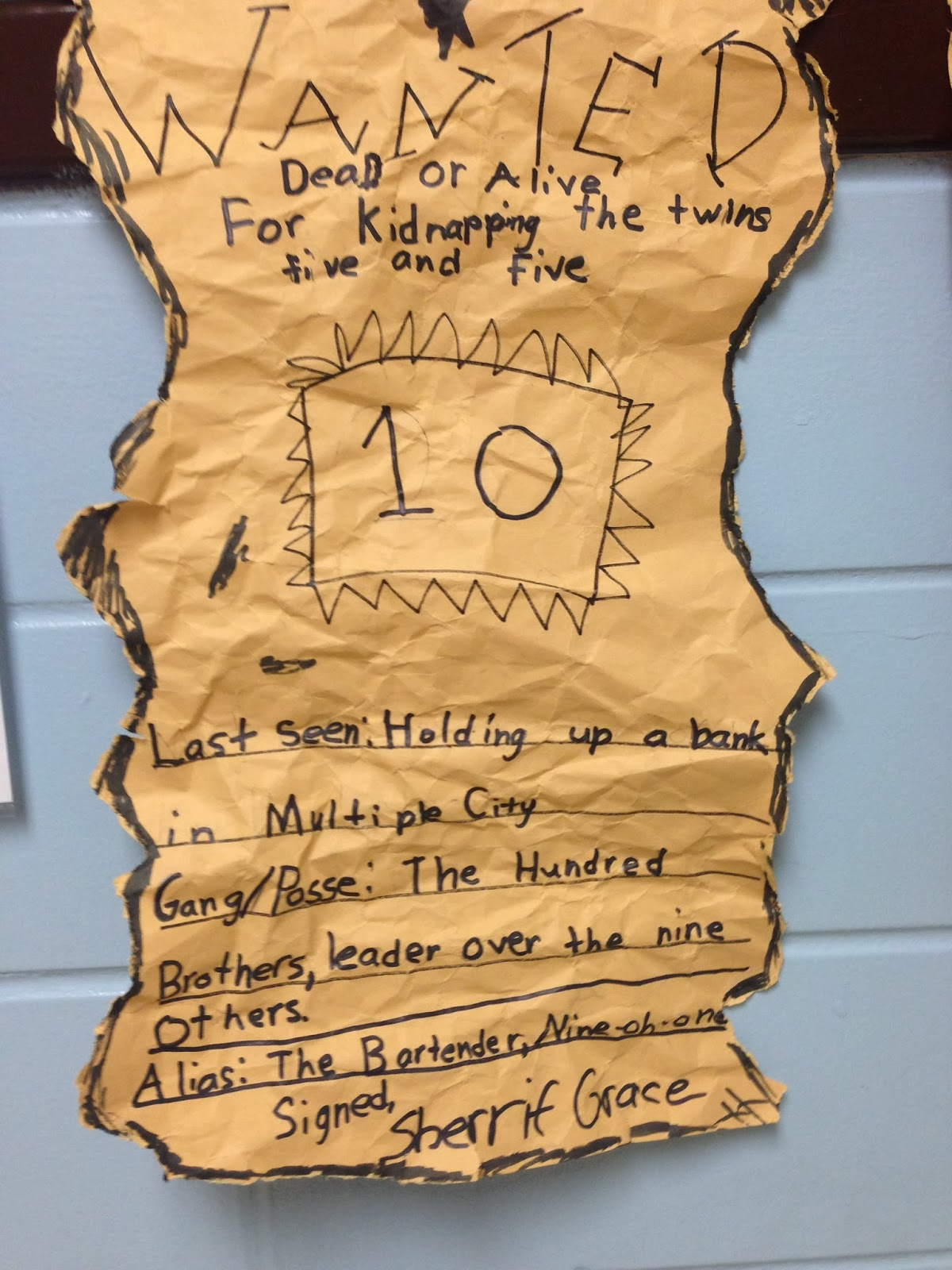 Wanted posters math idea from across the hall teaching tales along the yellow brick road for Wanted poster ideas