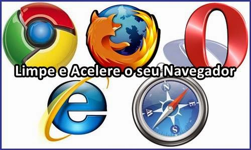 limpar, acelerar, navegador