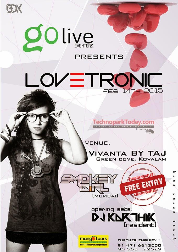 Valentines Day DJ Party At Kovalam Taj 2015