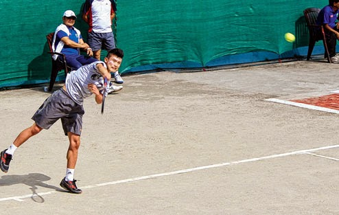Open tennis tournament at the Gymkhana Club Darjeeling